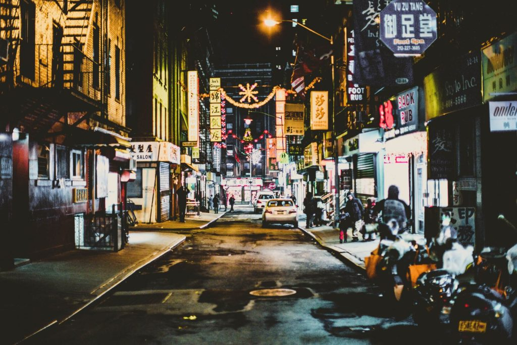 A street view of Chinatown in New York City