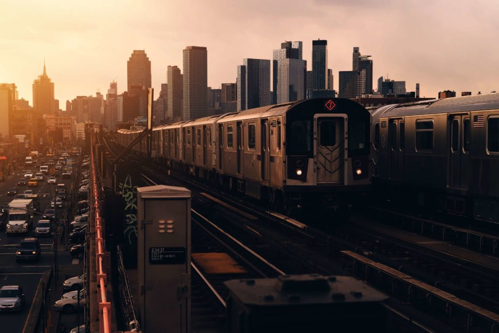 A photo of the L Train in New York City