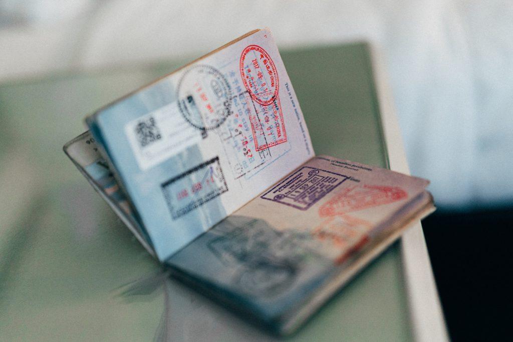Stamped USA Passport in New York City